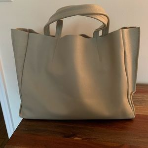 Ampersand as Apostrophe Half leather tote bag